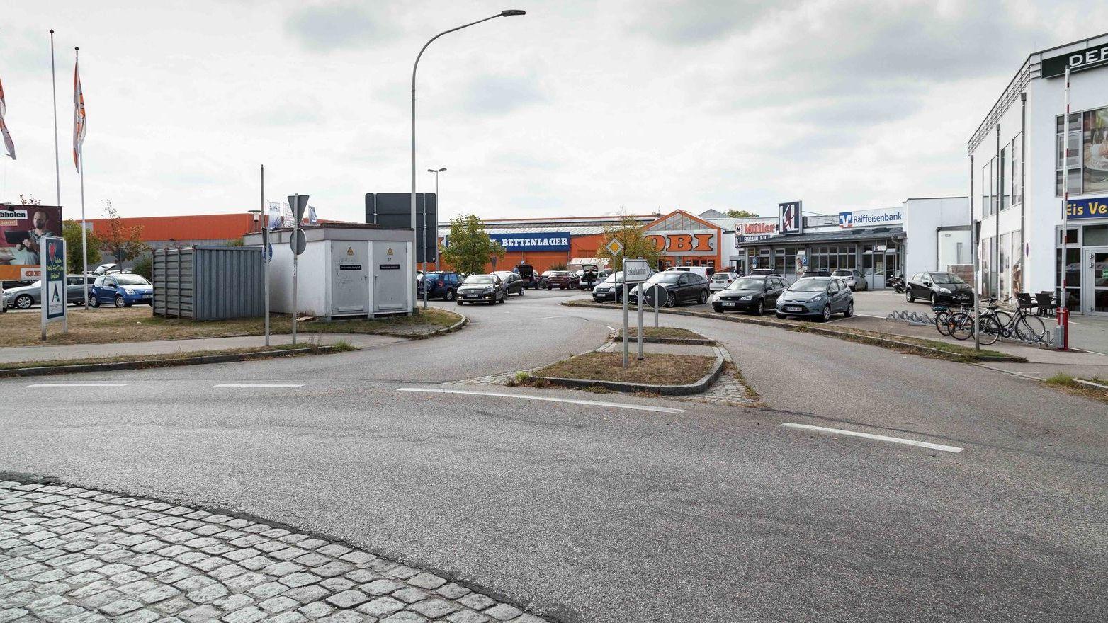 Beispiel für Flächenverbrauch - Gewerbegebiet in Abensberg.