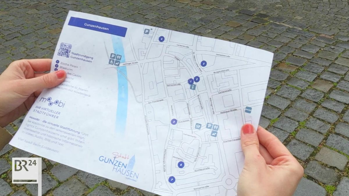 Stadtplan des virtuellen Stadtrundgangs