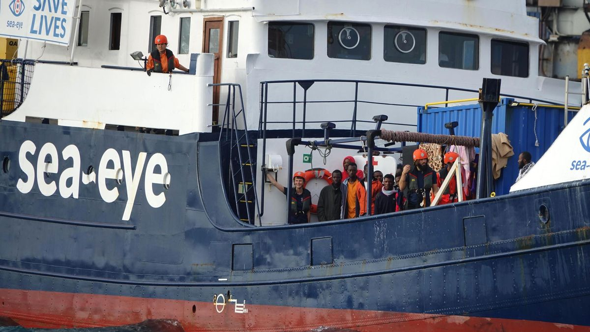Rettungsschiff Alan Kurdi mit Boots-Flüchtlingen an Bord