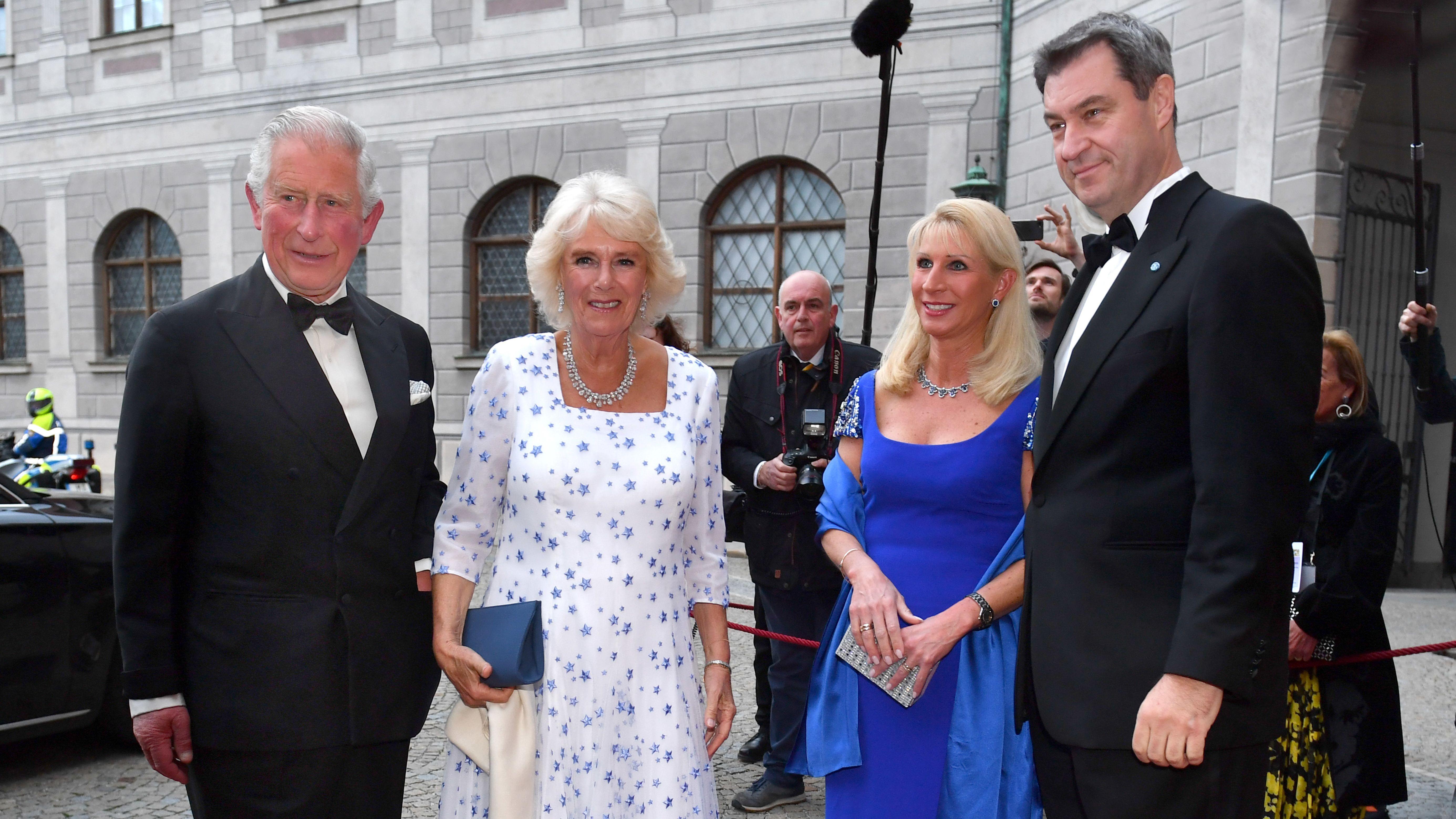 Prinz Charles und  Herzogin Camilla beim Staatsempfang in München