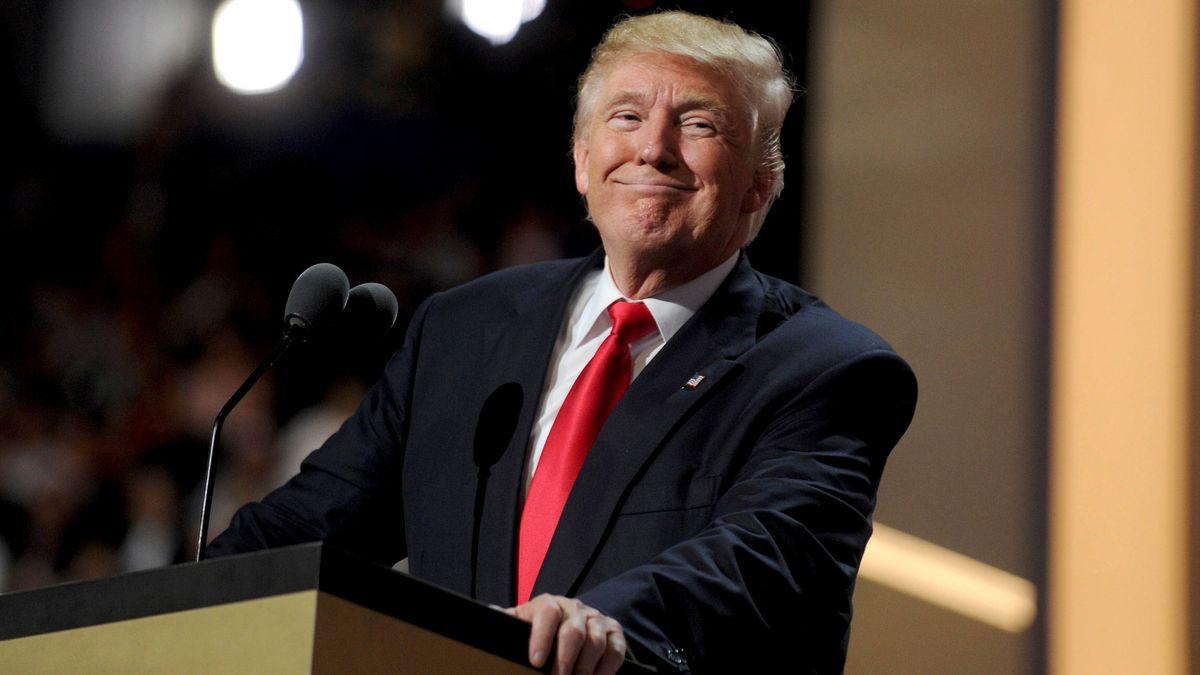 Er war von 2017 bis 2021 der 45. Präsident der Vereinigten Staaten: Donald Trump.