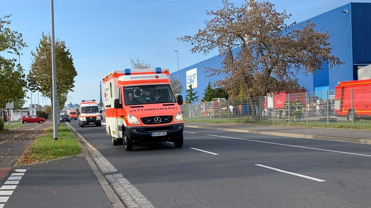 Großbrand bei SKF in Schweinfurt.