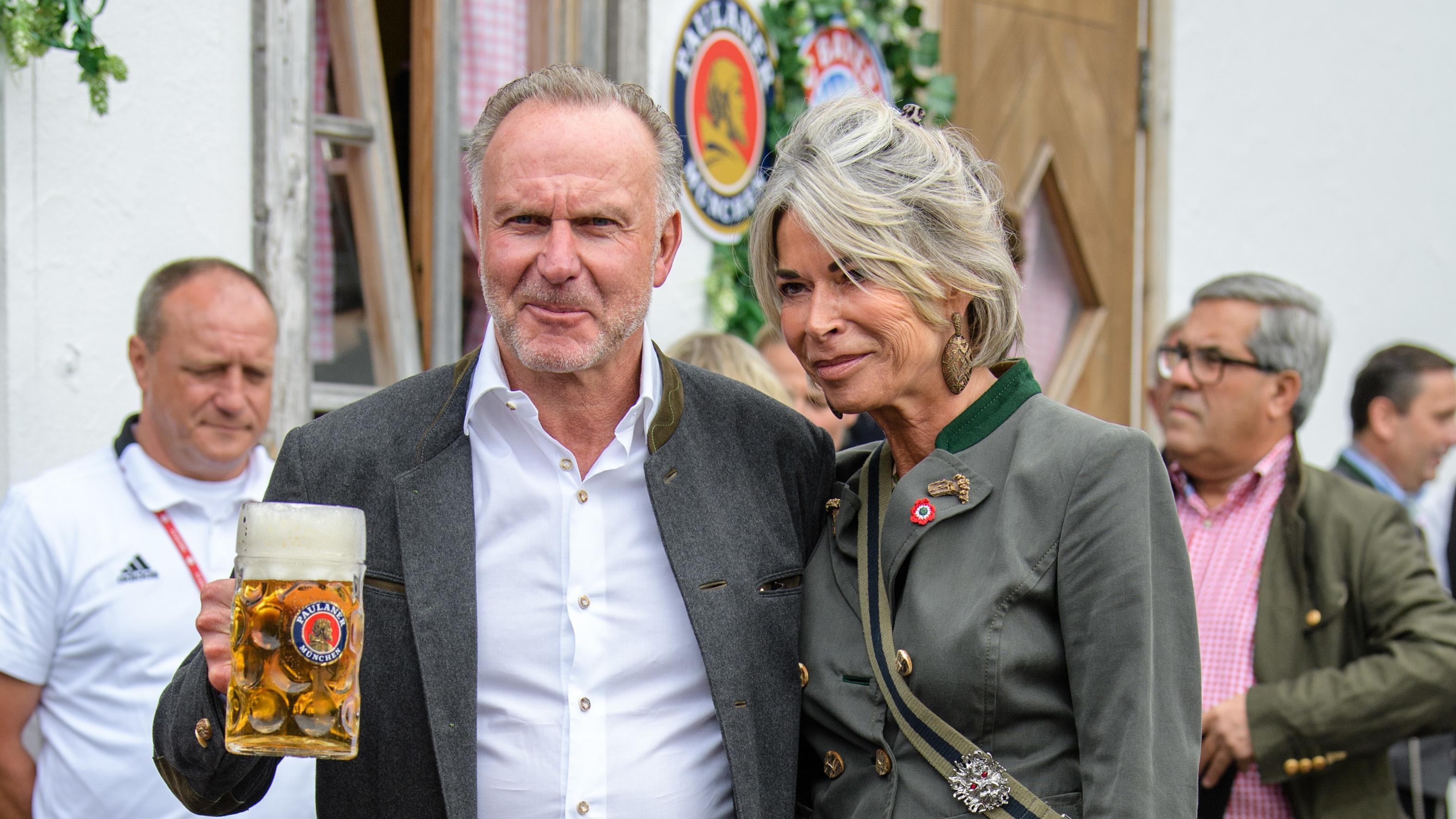 Karl-Heinz Rummenigge mit Ehefrau Martina