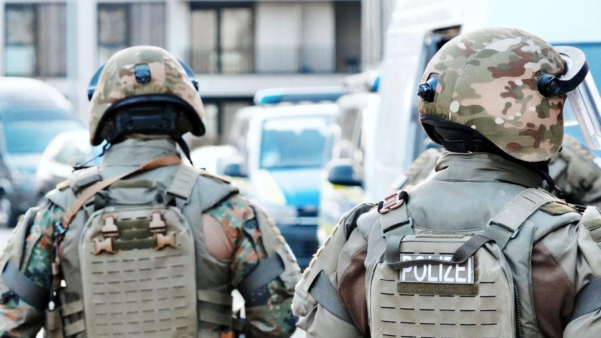Bild von SEK Beamten im Einsatz