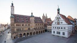 Rathaus von Rothenburg ob der Tauber   Bild:pa/dpa/Daniel Karmann