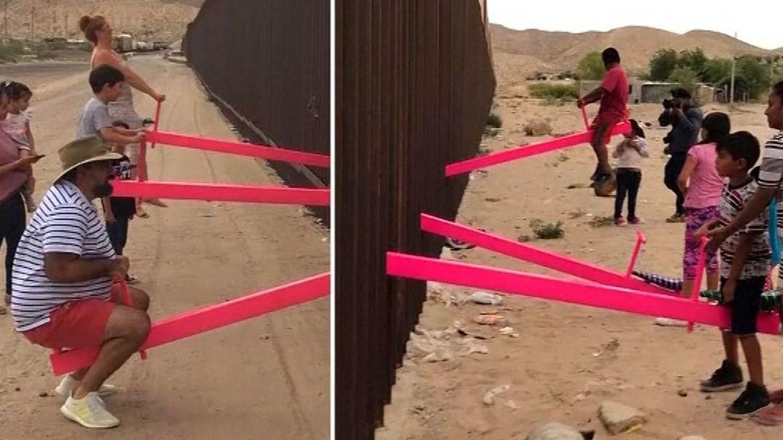 Kunstprojekt an der Grenze zwischen USA und Mexiko