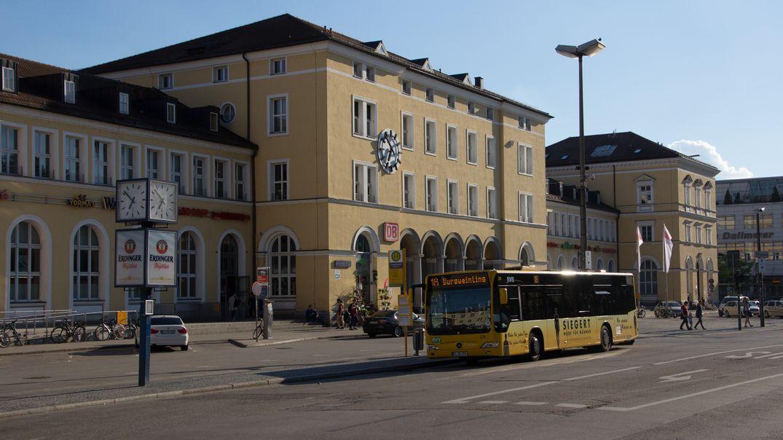 Der Regensburger Hauptbahnhof