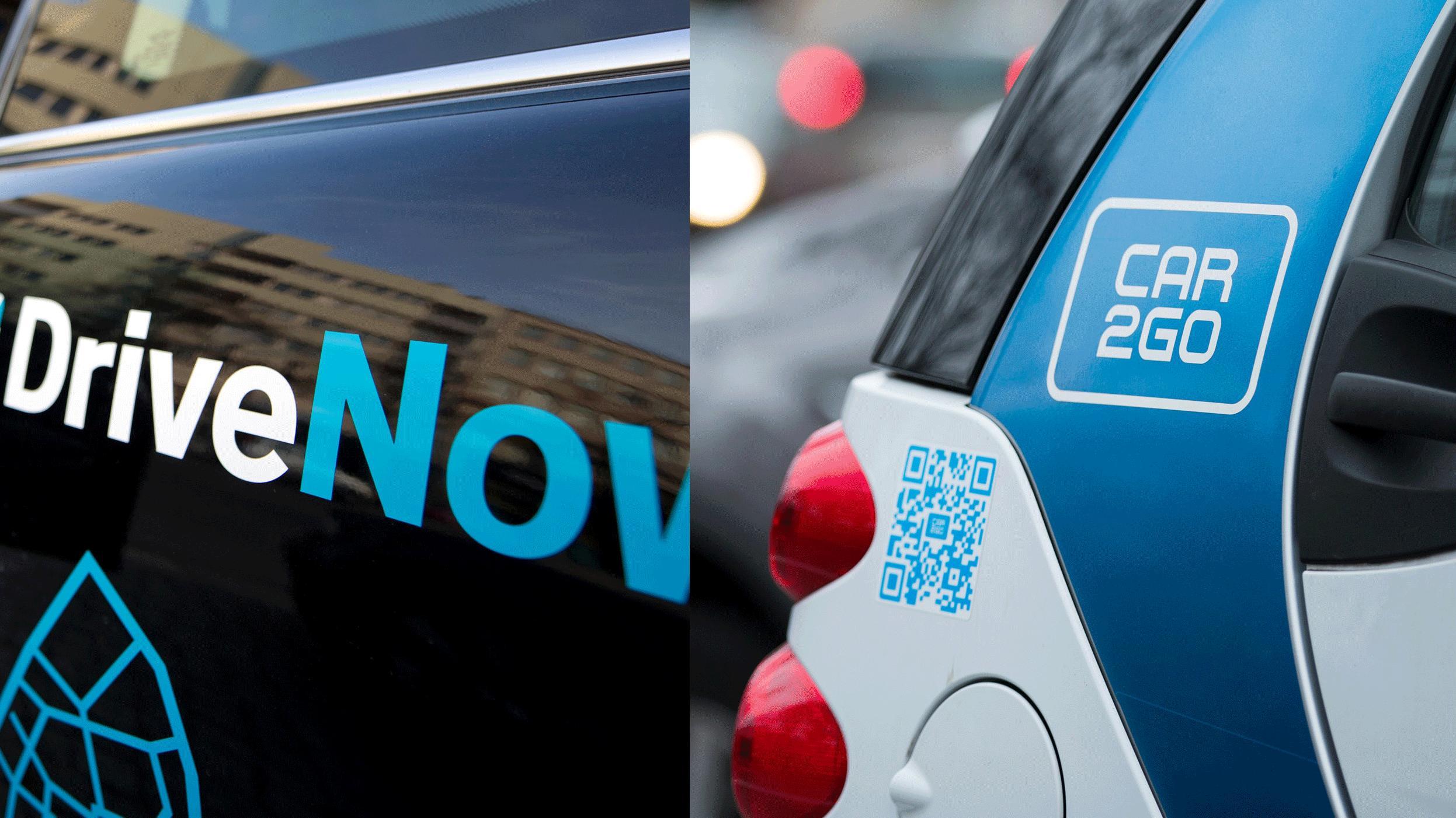 Carsharing-Fusion von BMW und Daimler