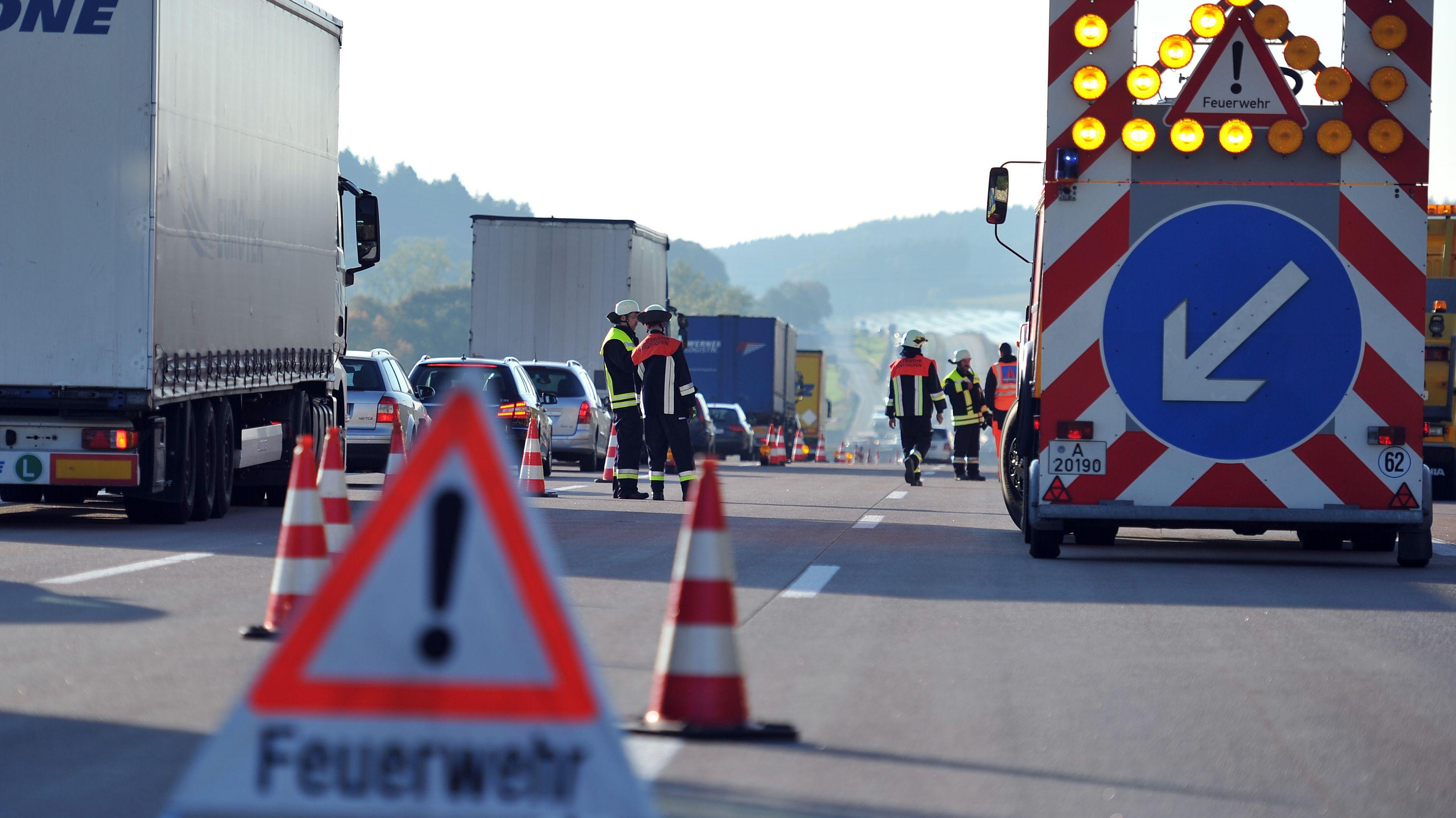 Verkehrsunfall auf Autobahn (Archivbild)