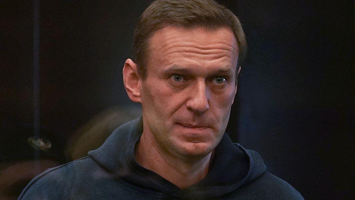 Der russische Oppositionsführer Alexej Nawalny vor Gericht in Moskau