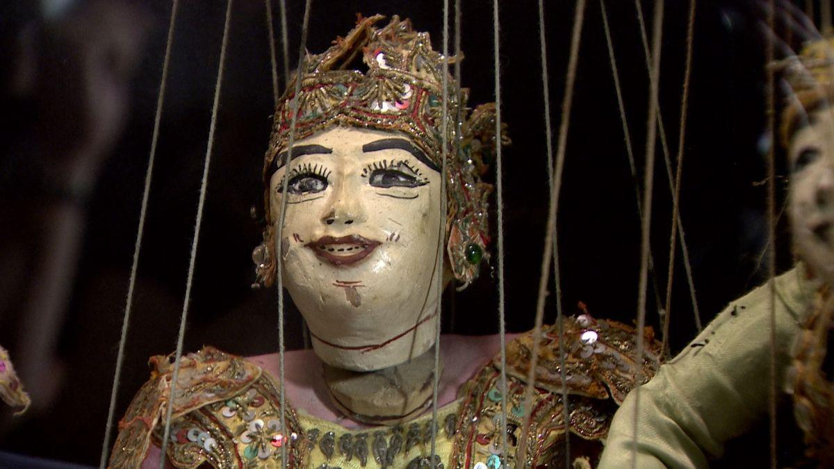 Marionette aus Südostasien im Puppentheatermuseum Kaufbeuren