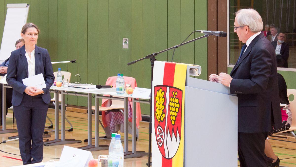 Main-Spessart-Landrätin Sabine Sitter (CSU) wird vereidigt.