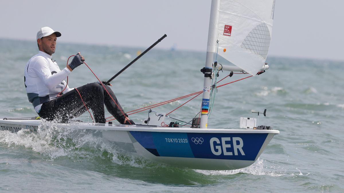Philipp Buhl im Laser bei den Olympischen Sommerspielen in Tokio