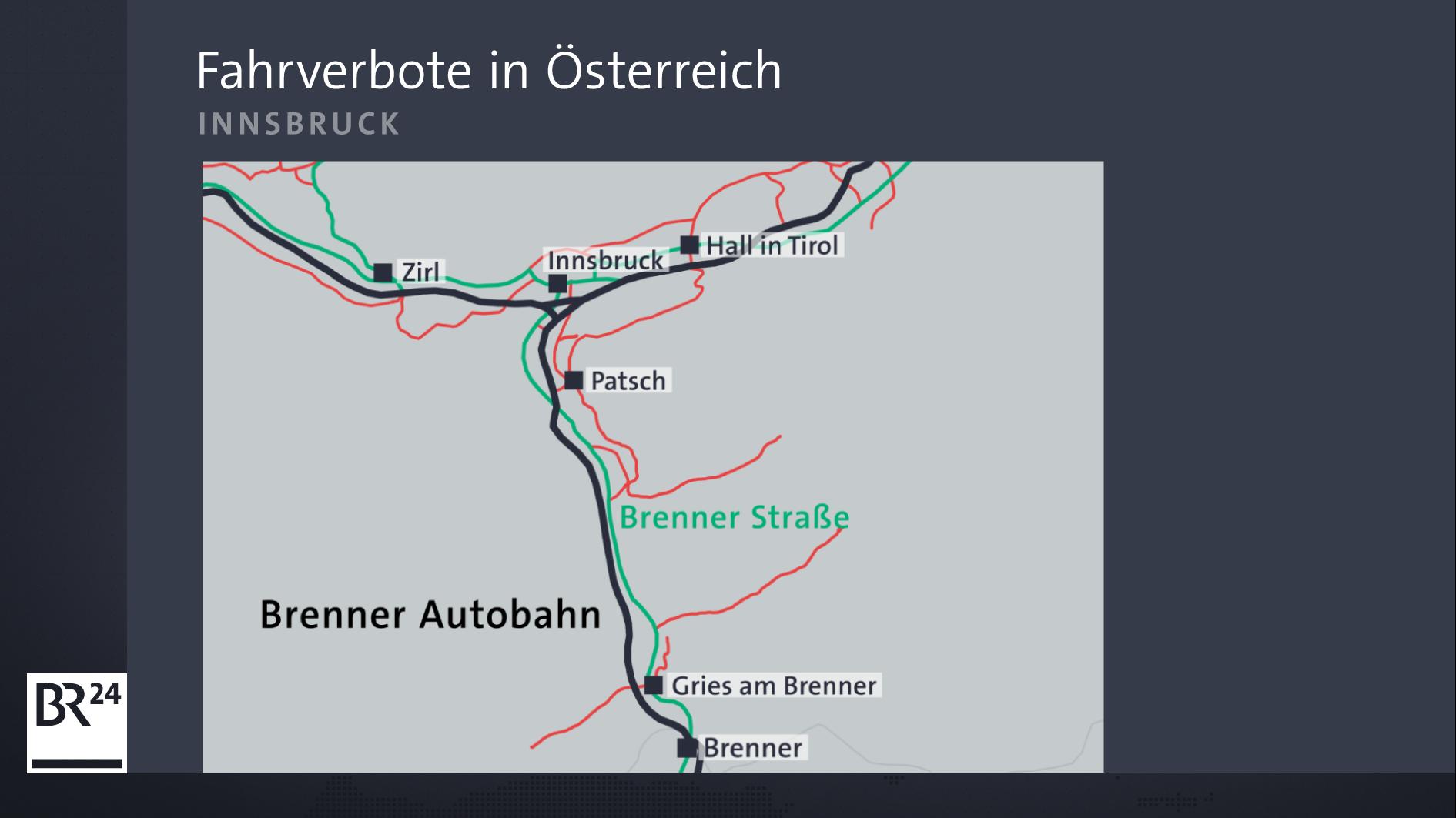 Fahrverbote bei Innsbruck