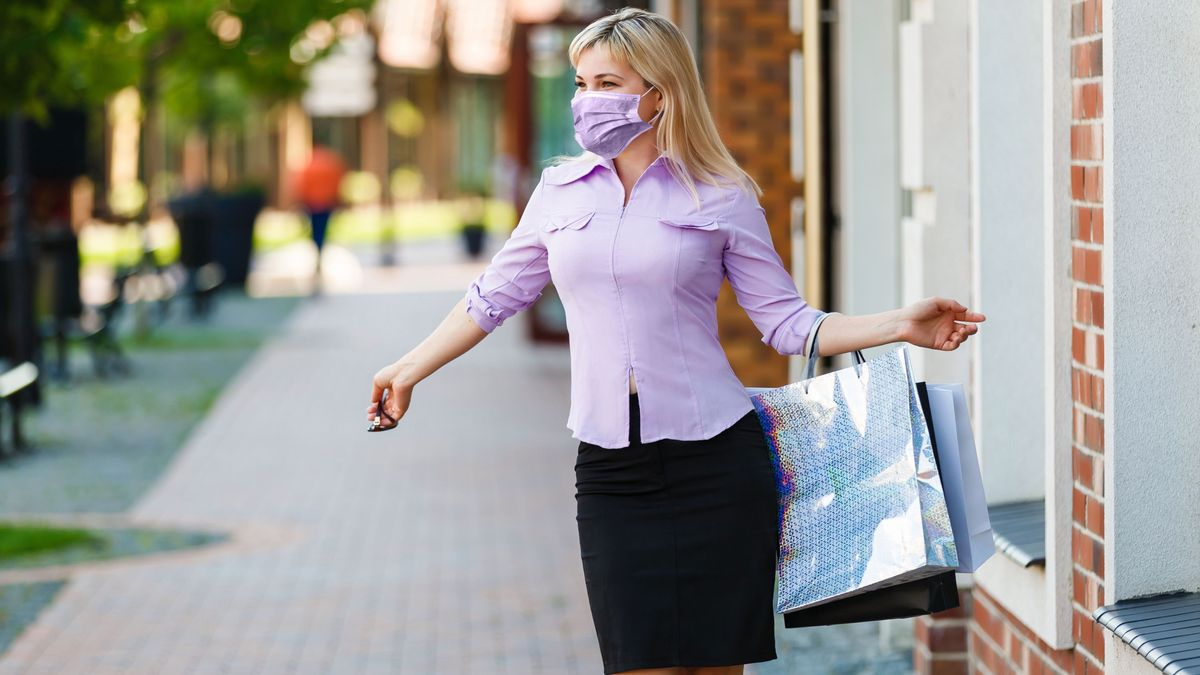 Symbolbild Shoppen in der Corona-Krise