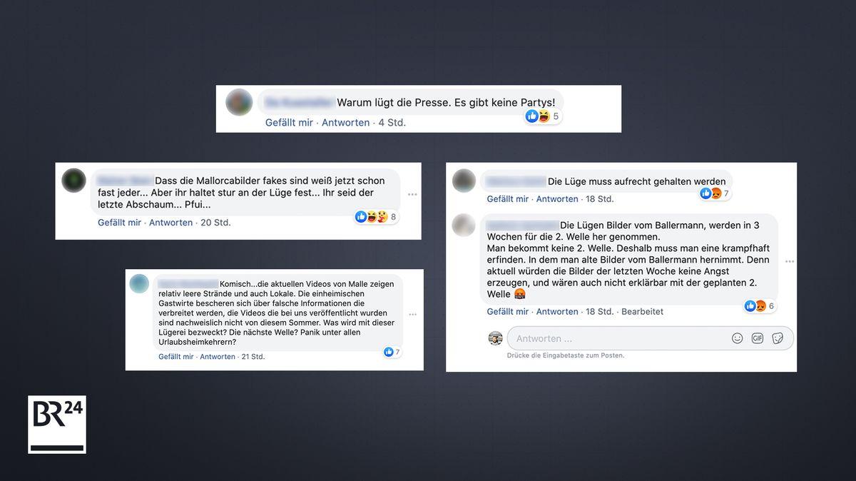 Kommentare auf der BR24-Facebookseite