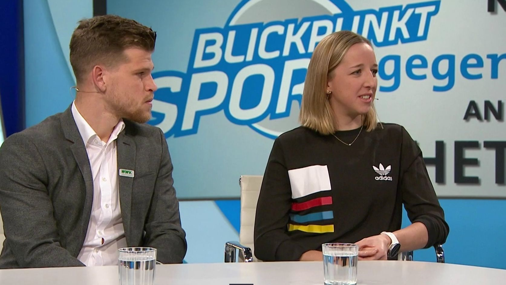 Florian Niederlechner und Franziska Preuß