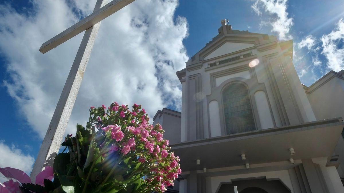 Die Kirche Nossa Senhora de Caravaggio im brasilianischen Ort Farroupilha.