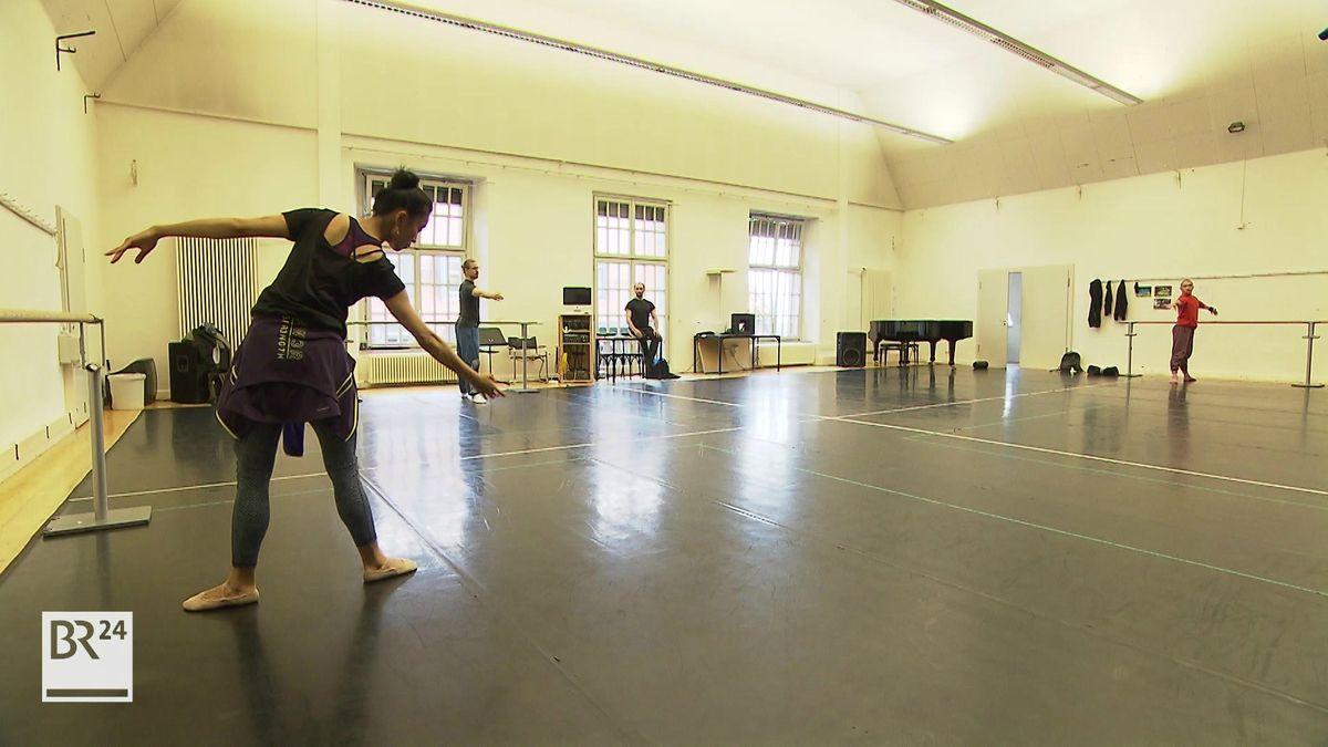 Ballettproben am Nürnberger Staatstheater