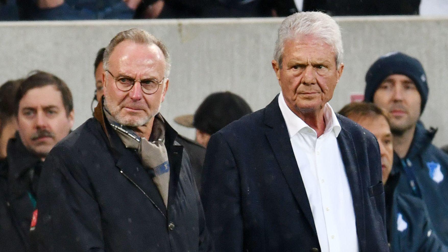 Applaus gegen Proteste: Dietmar Hopp (l.) und Karl-Heinz Rummenigge.