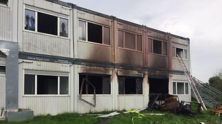 Asylbewerberunterkunft in Zorneding nach dem Brand | Bild:Georg Barth