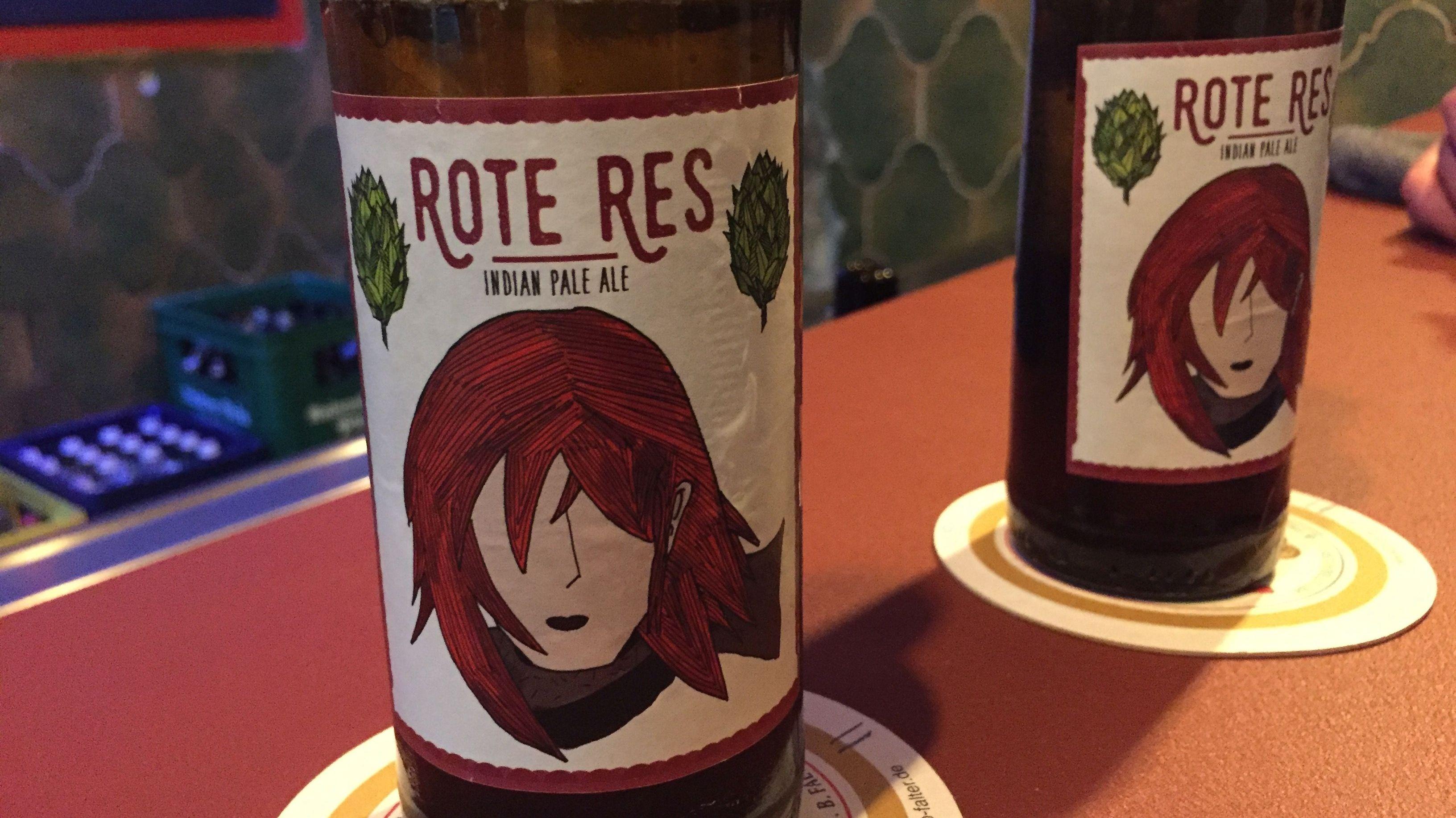 "Das eigene Bier ""Rote Res"""