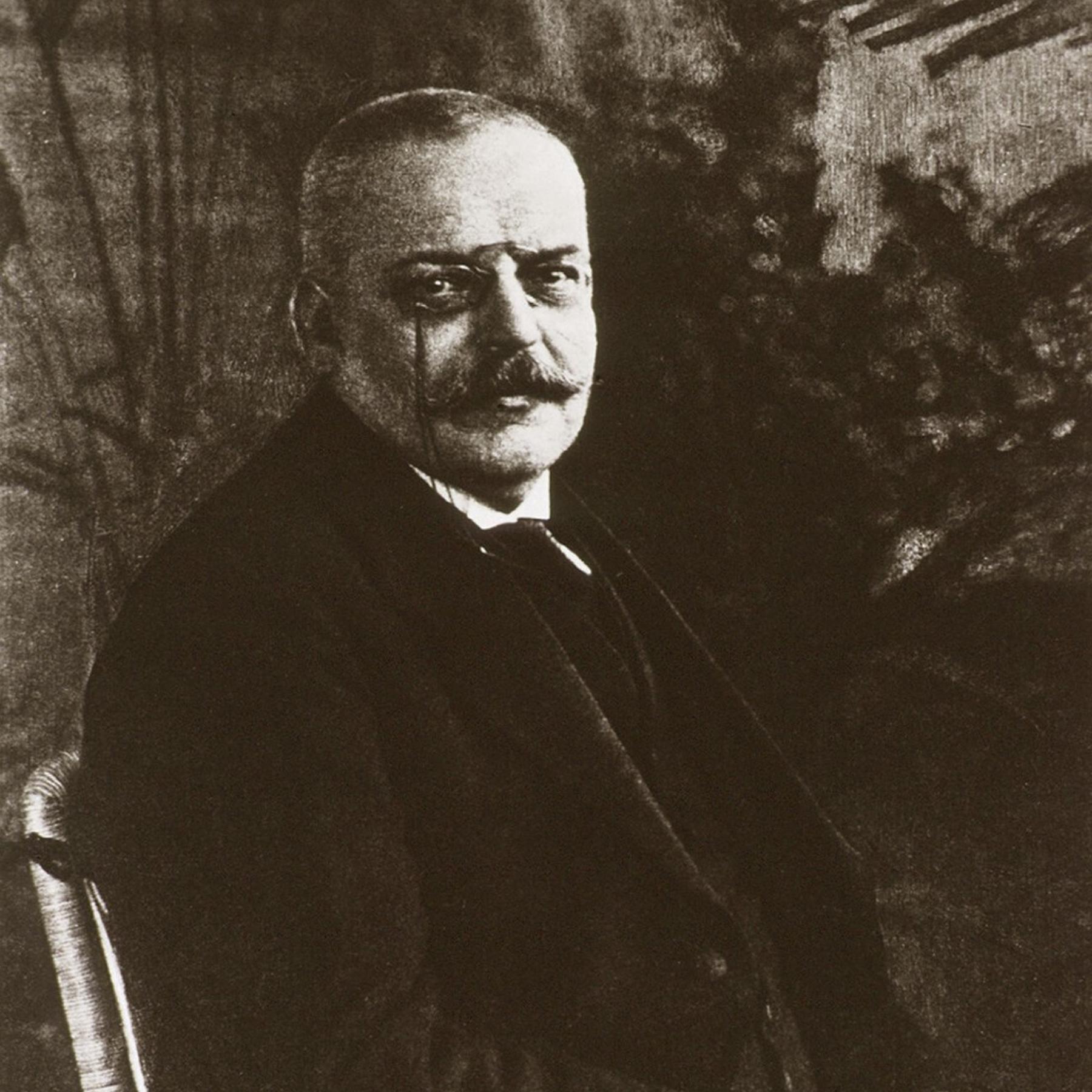 Alois Alzheimer - Nervenarzt mit Mikroskop