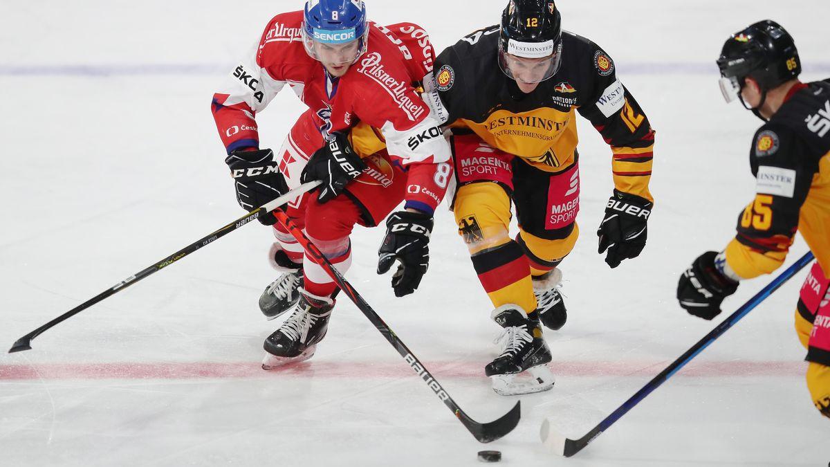 Spielszene aus der Partie zwischen Deutschland und Tschechien in Ingolstadt