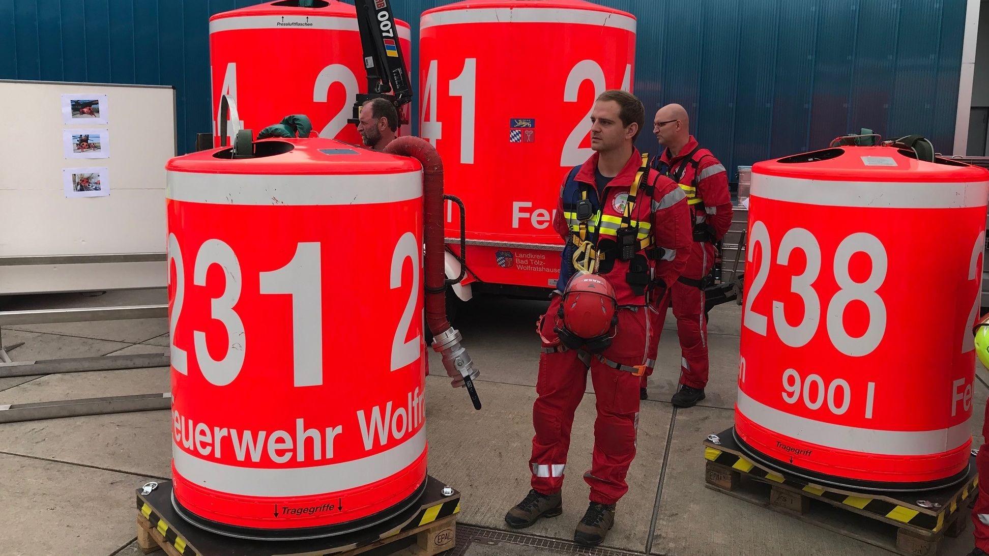 Waldbrandbekämpfungsgerät in der Feuerwehrschule in Geretsried bei München.