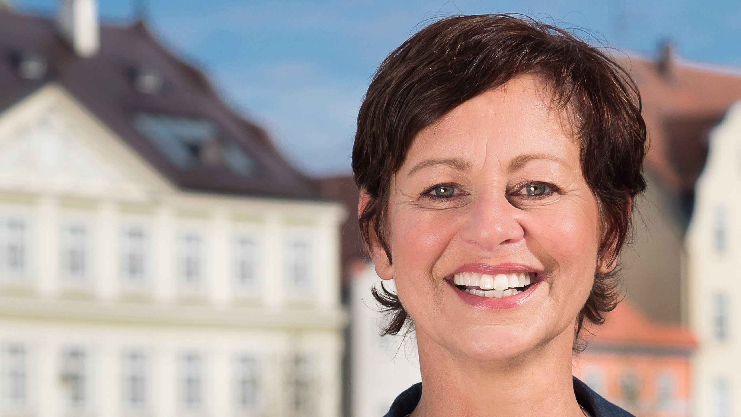 Herausforderin Sigi Hagl von den Grünen.