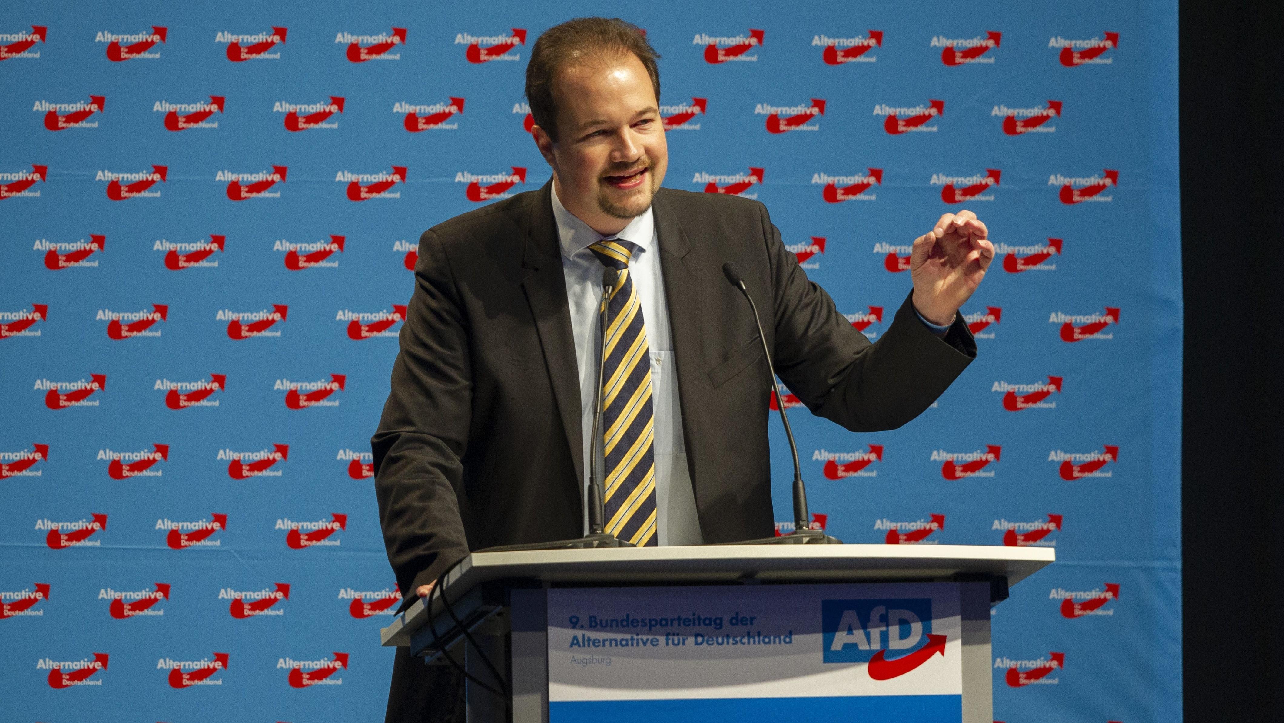 Martin Sichert auf dem AfD-Bundesparteitag 2018 in Augsburg.