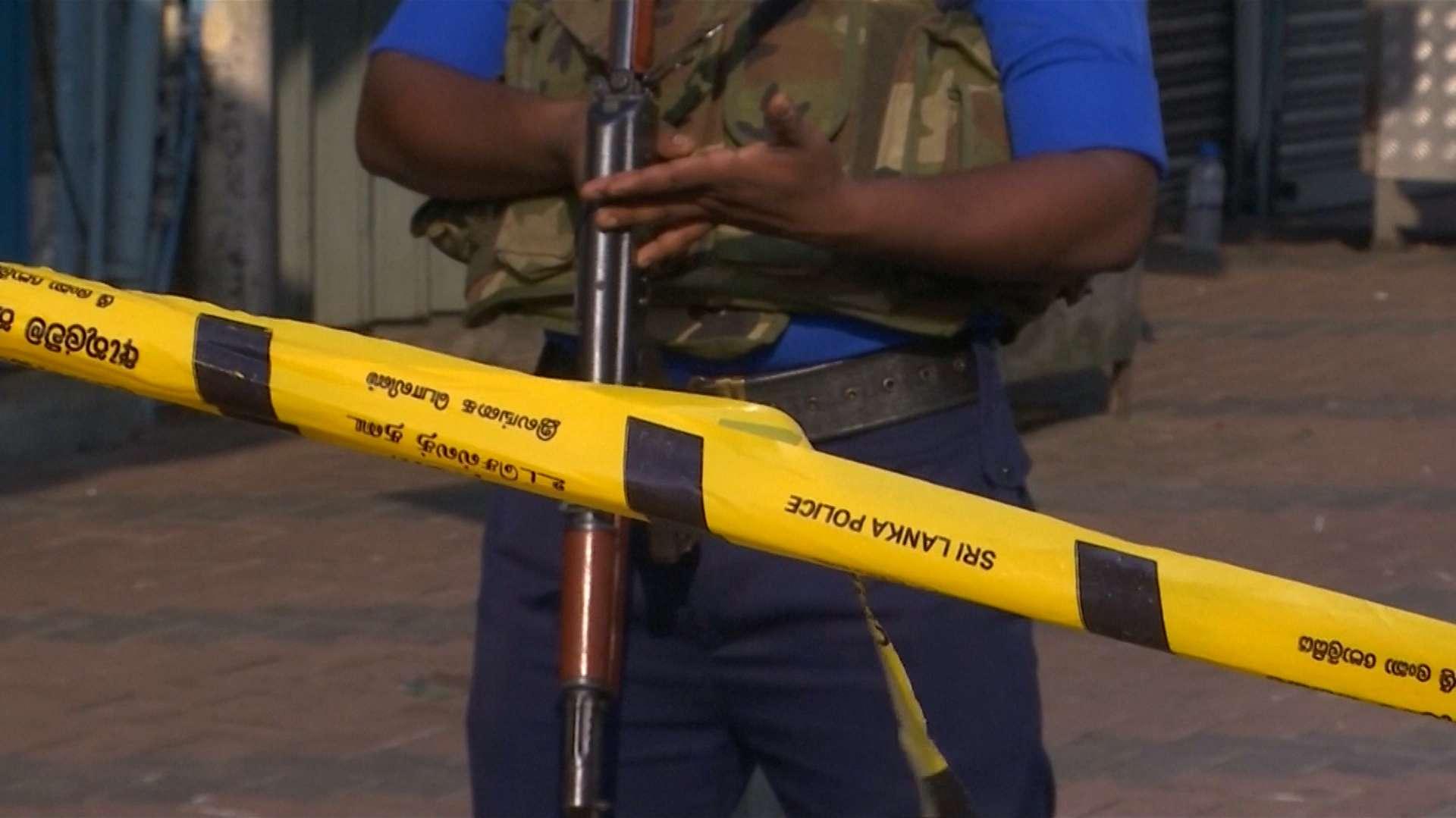 Wachposten der Polizei von Sri Lanka