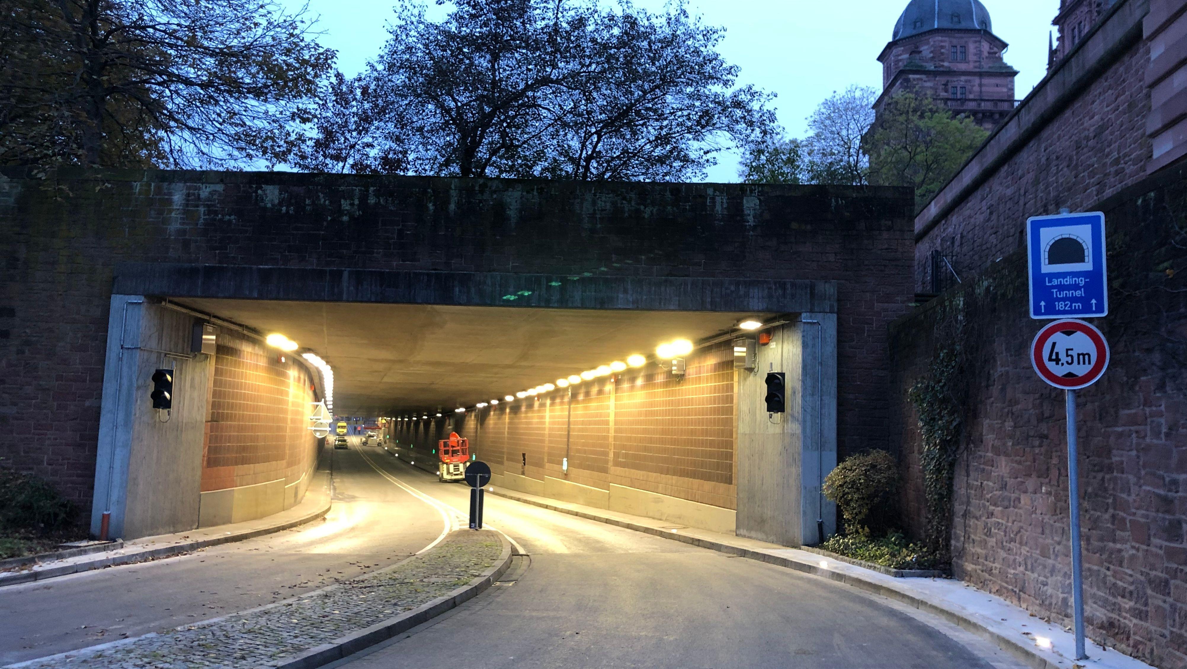Der Landingtunnel in Aschaffenburg
