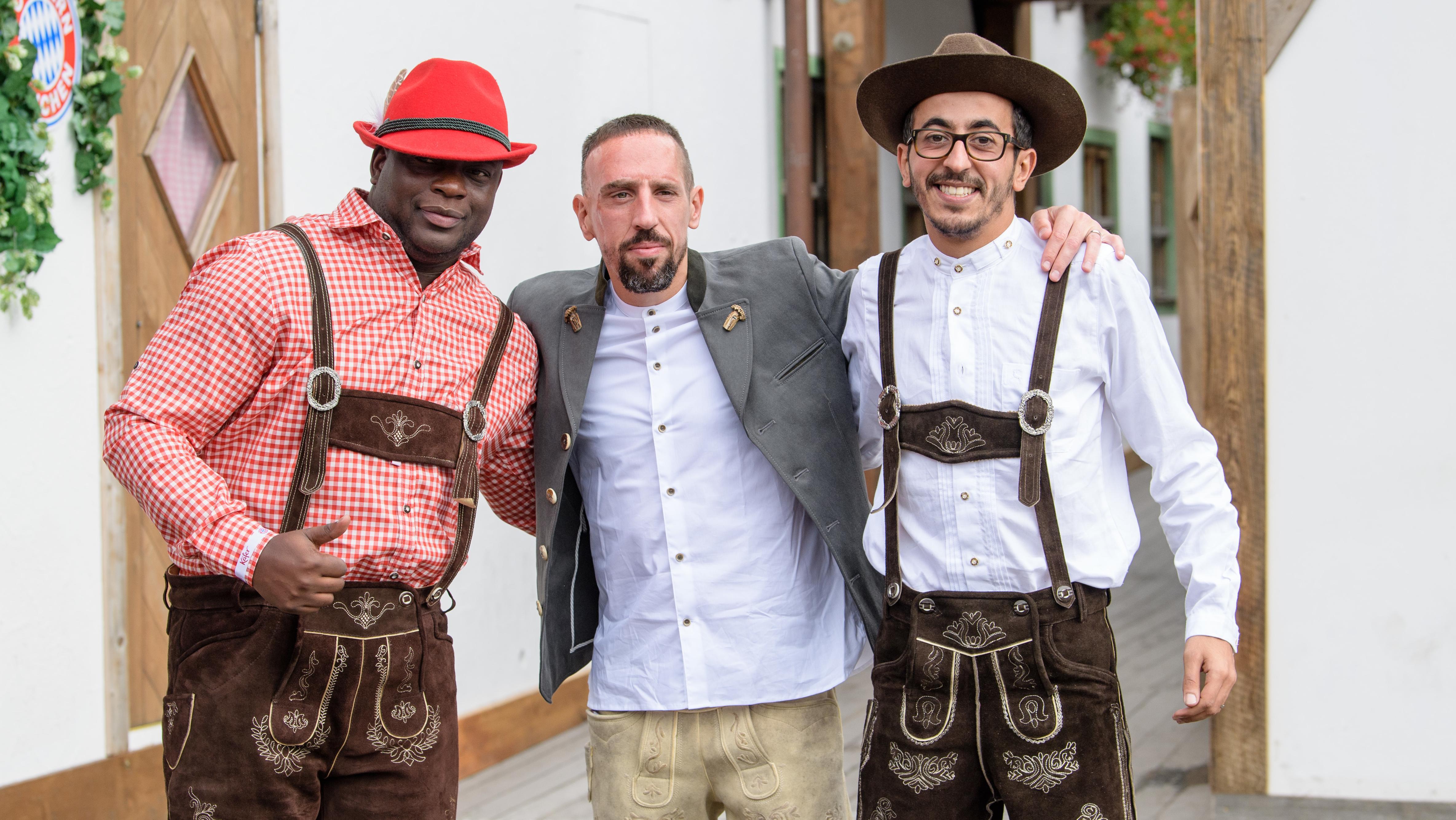 Franck Ribéry mit Freunden