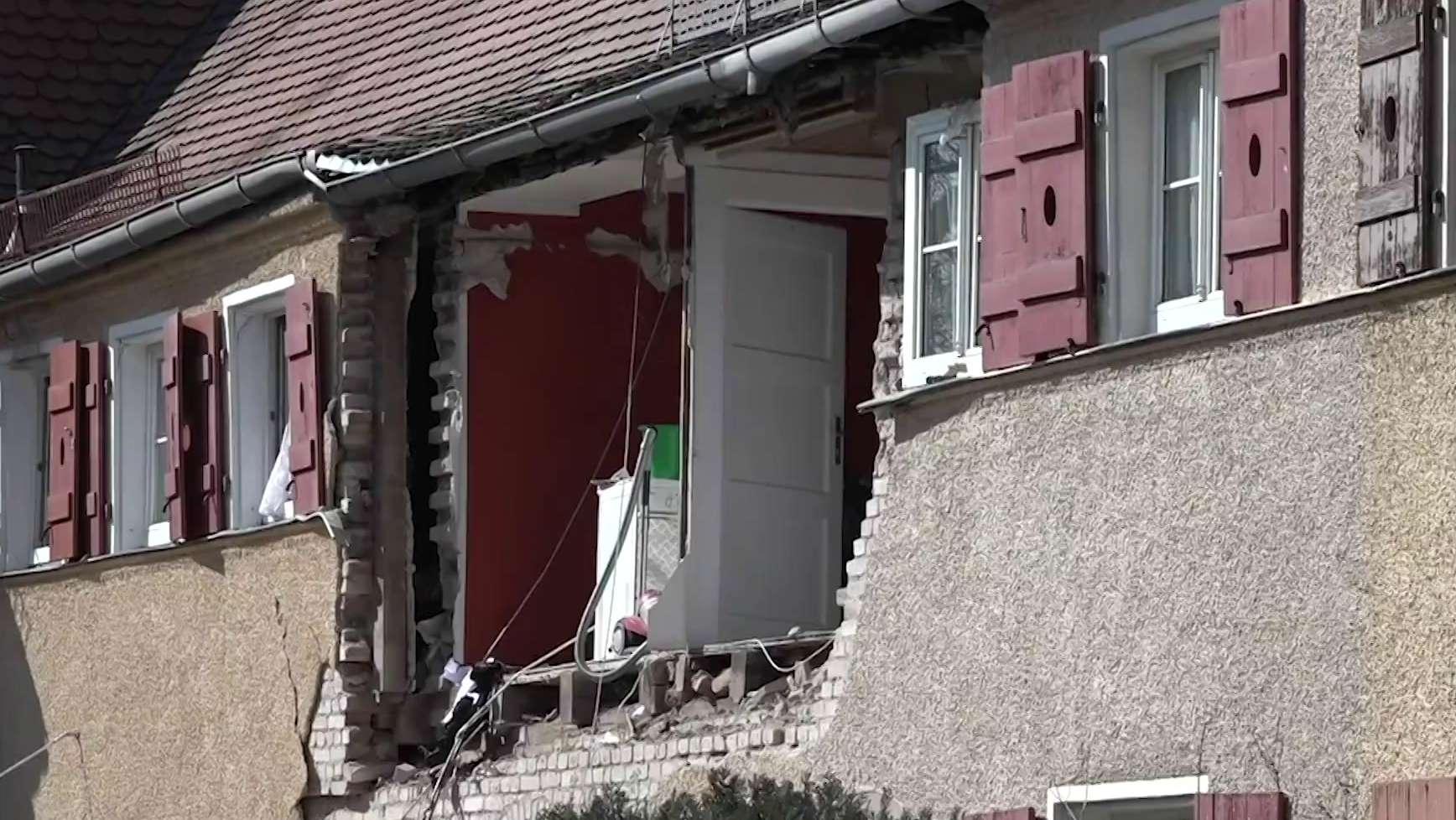 Explosion in einem Nürnberger Wohnhaus