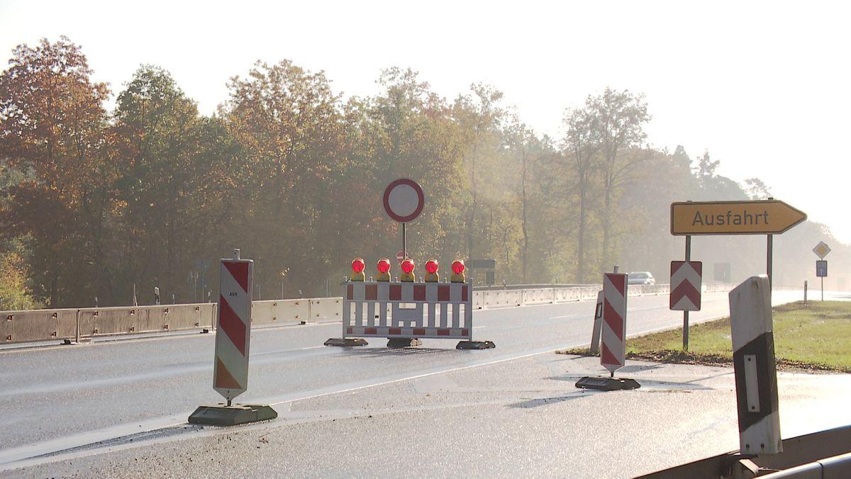 Sperrung auf der Autobahn A9