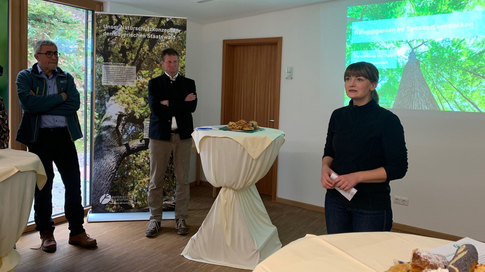 Digitalministerin Gerlach hat heute den Startschuss für die neue Spessart-App gegeben.