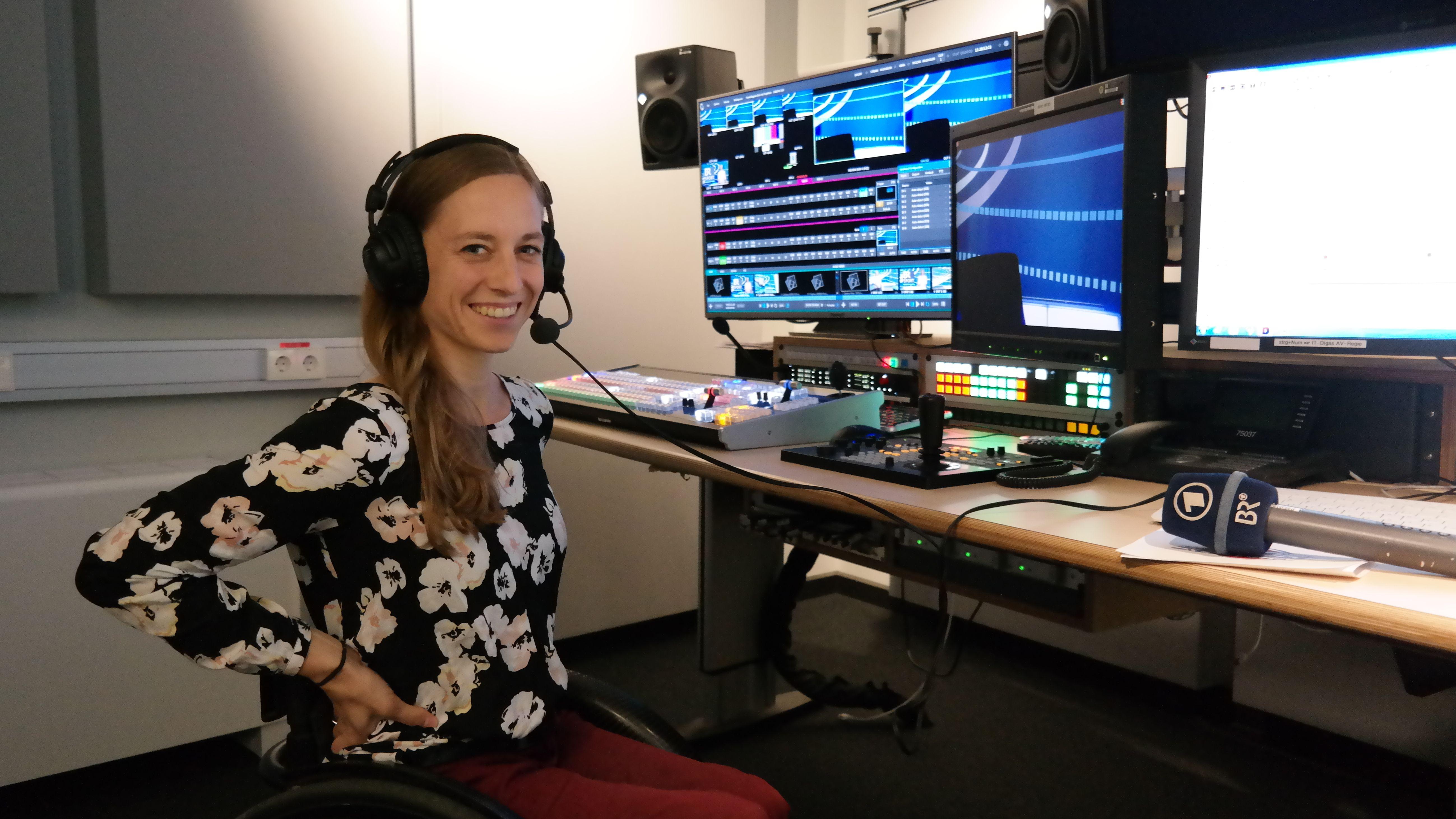 Anna Schaffelhuber im Studio von BR Sport