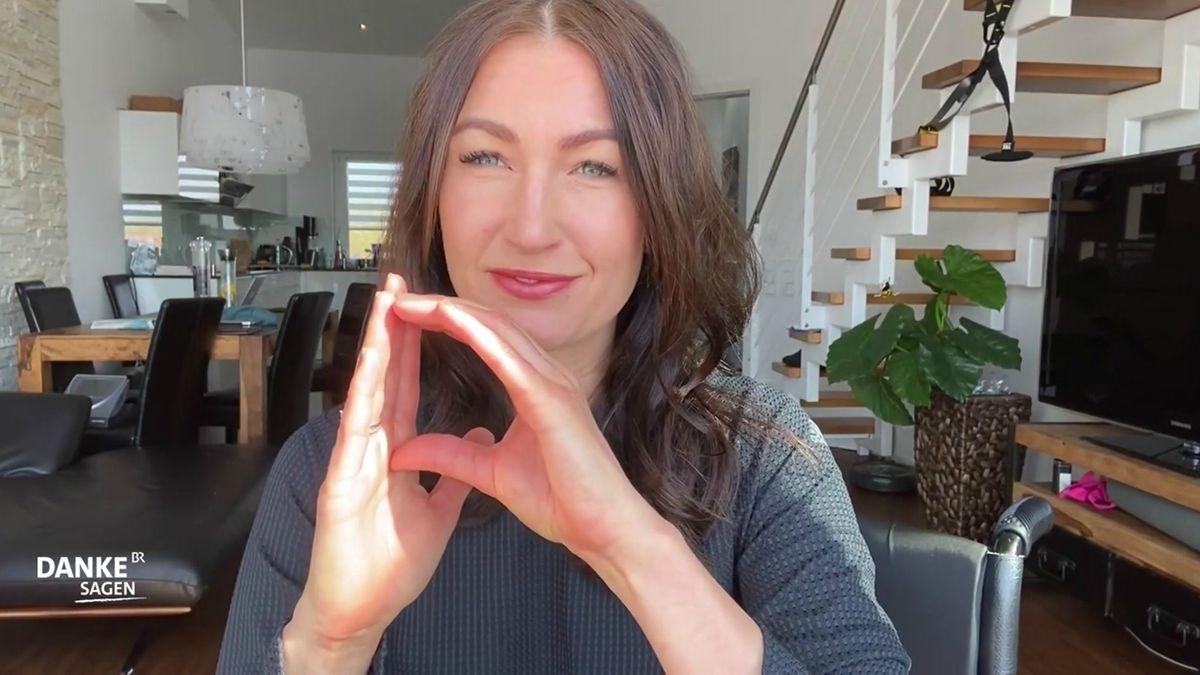 Denise Schindler sagt Danke