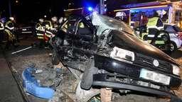Bild vom Unfallort. | Bild:Berufsfeuerwehr München.