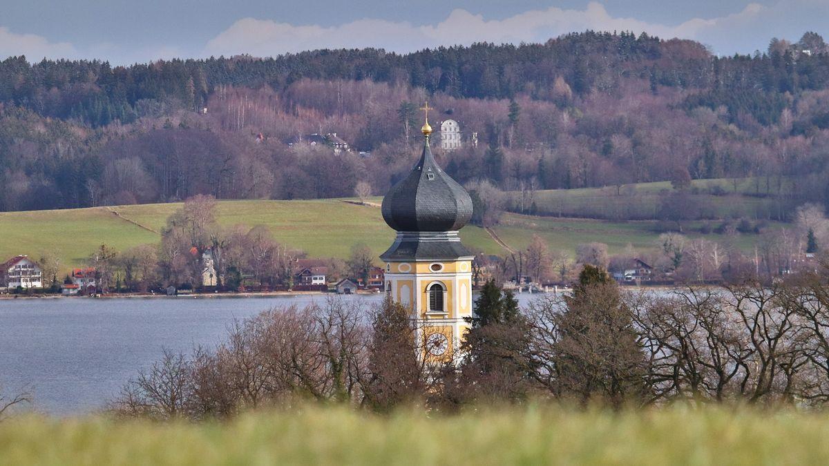 Kloster Bernried und Starnberger See.