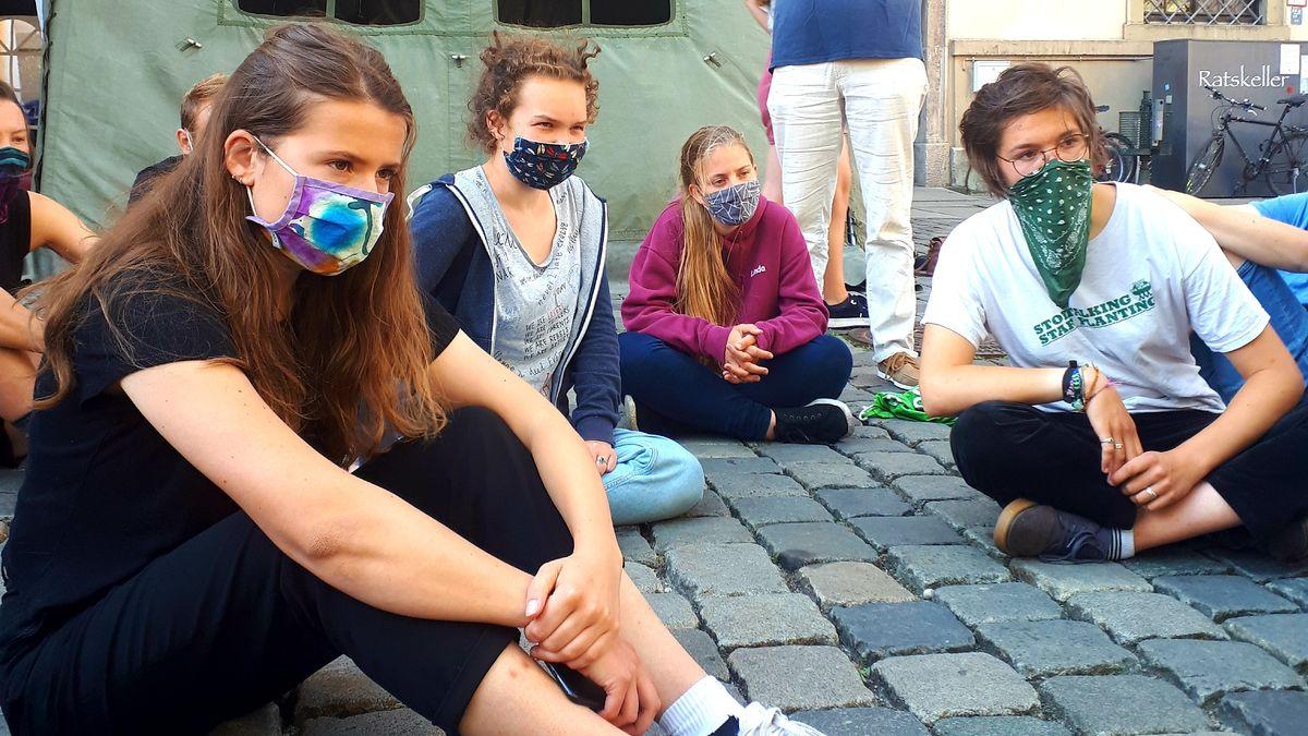 Klimaschutz-Aktivistin Luisa Neubauer in Augsburg