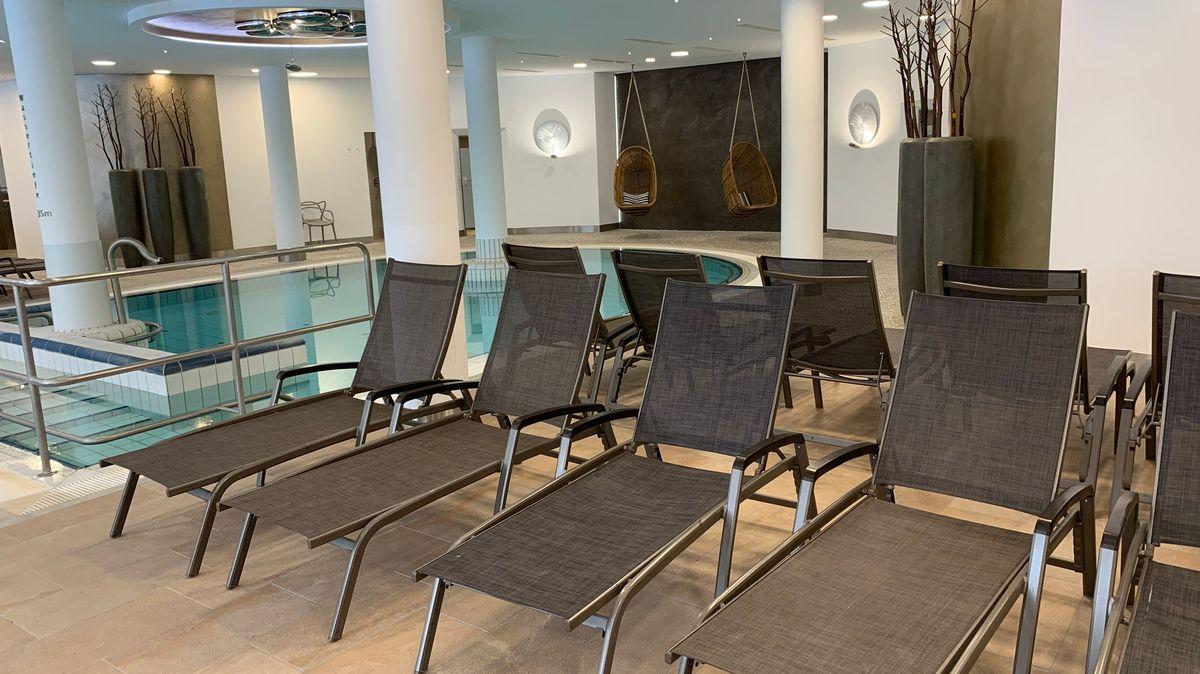Der leere Wellnessbereich im Hotel Maximilian in Bad Griesbach