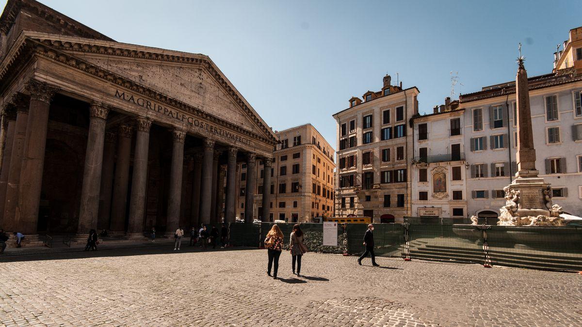 Blick auf das historische Zentrum von Rom