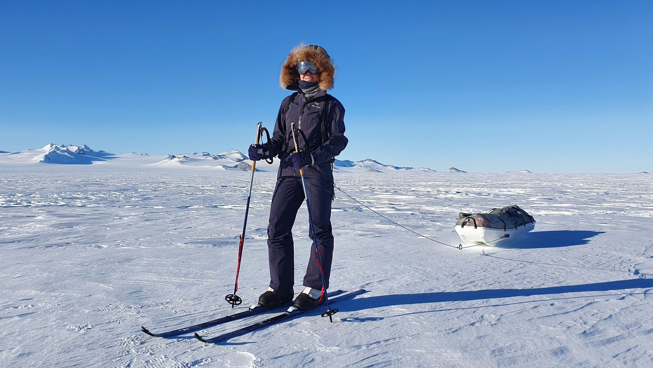 Extremsportlerin Anja Blacha auf ihrem Weg zum Südpol
