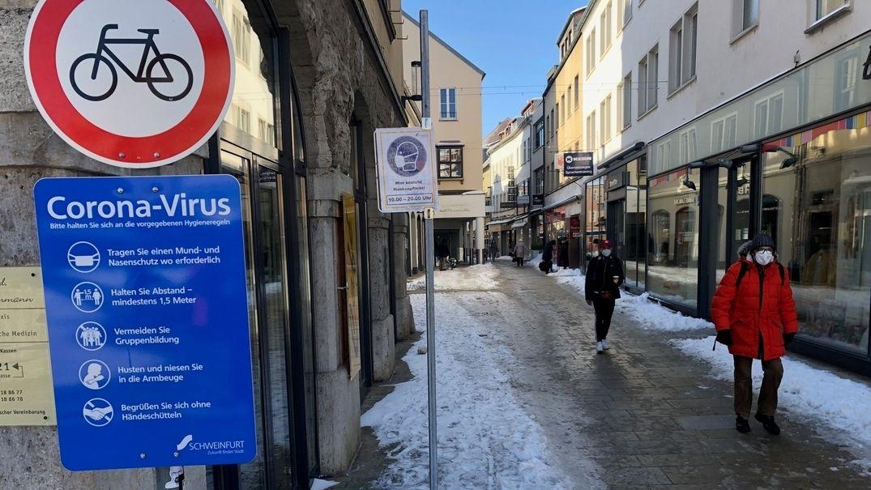 Die Stadt Schweinfurt hat derzeit deutschlandweit die geringsten Inzidenzzahlen.