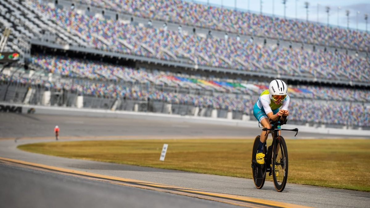 Anne Haug beim Training in Daytona.