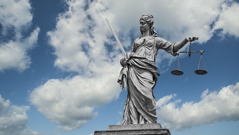 Die Figur Justizia
