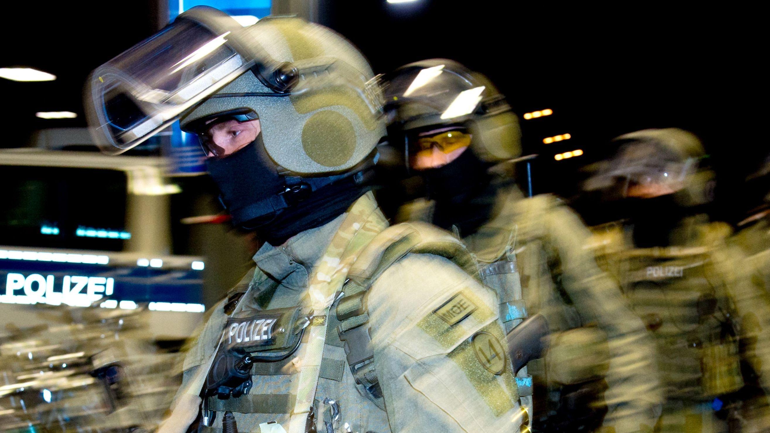 Angehörige der GSG 9 der Bundespolizei