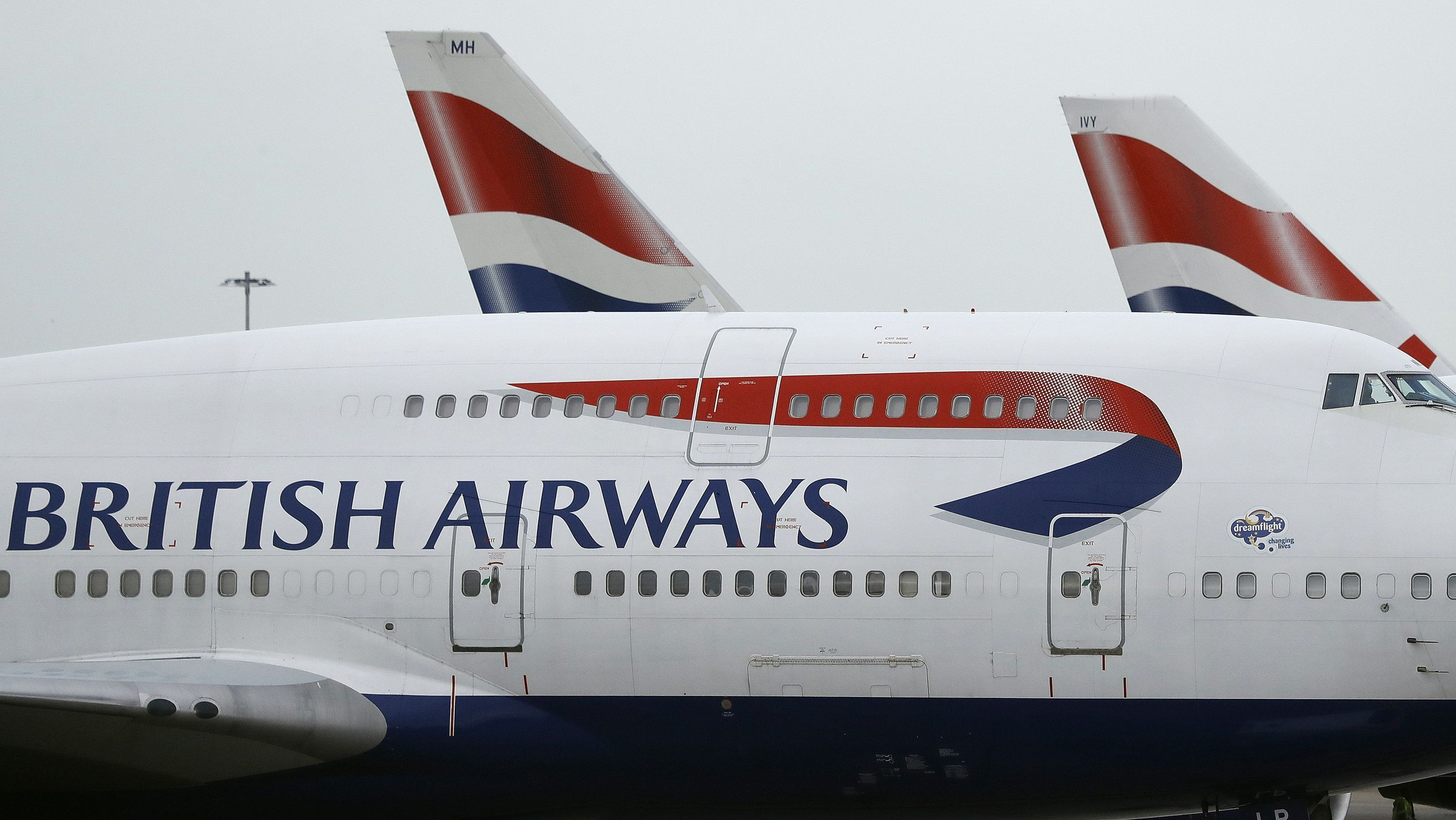 Geparkte Flugzeuge von British Airways
